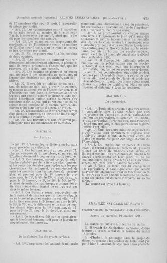 Tome 34 : Du 1er octobre au 10 novembre 1791 - page 279