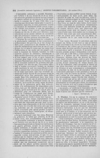 Tome 34 : Du 1er octobre au 10 novembre 1791 - page 292