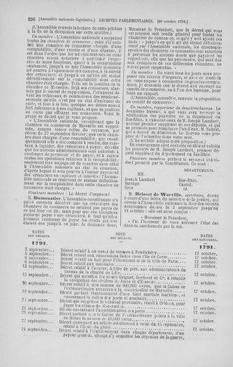 Tome 34 : Du 1er octobre au 10 novembre 1791 - page 296