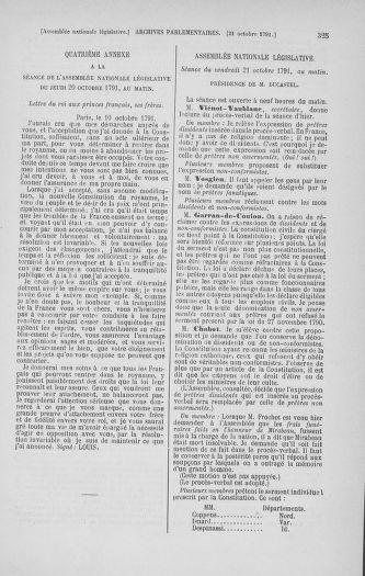 Tome 34 : Du 1er octobre au 10 novembre 1791 - page 325