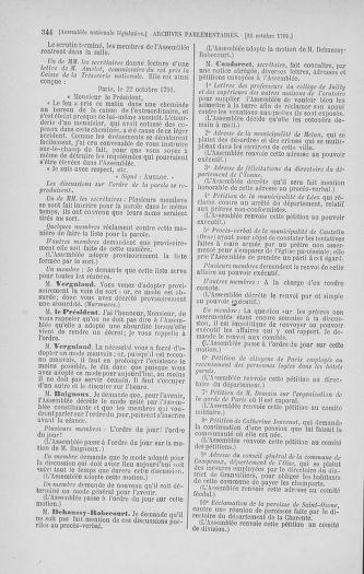 Tome 34 : Du 1er octobre au 10 novembre 1791 - page 344