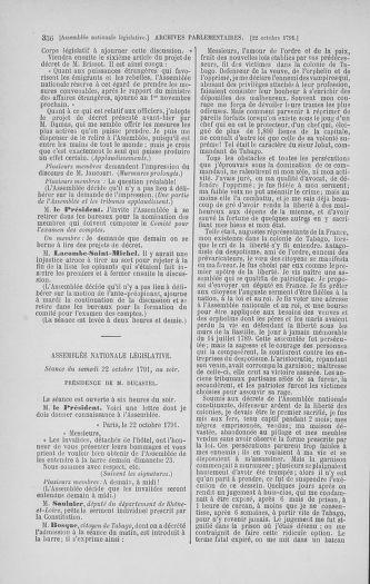 Tome 34 : Du 1er octobre au 10 novembre 1791 - page 356