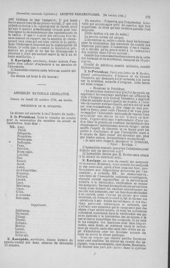 Tome 34 : Du 1er octobre au 10 novembre 1791 - page 371