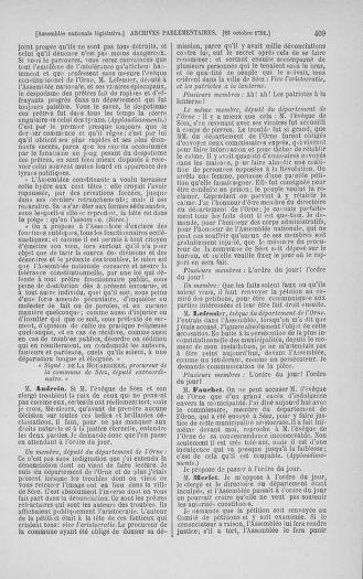 Tome 34 : Du 1er octobre au 10 novembre 1791 - page 409