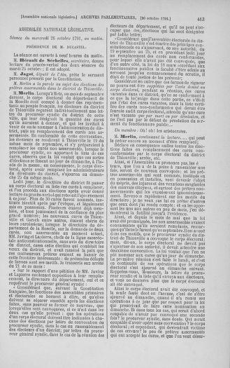Tome 34 : Du 1er octobre au 10 novembre 1791 - page 413