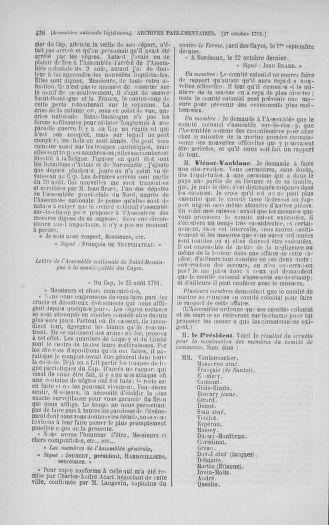 Tome 34 : Du 1er octobre au 10 novembre 1791 - page 438