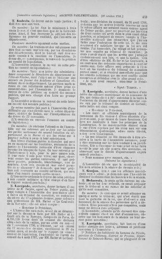 Tome 34 : Du 1er octobre au 10 novembre 1791 - page 453