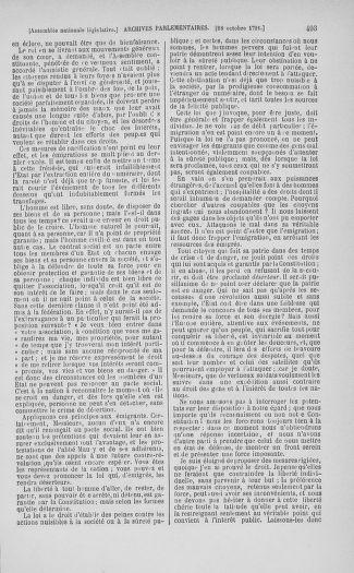 Tome 34 : Du 1er octobre au 10 novembre 1791 - page 493