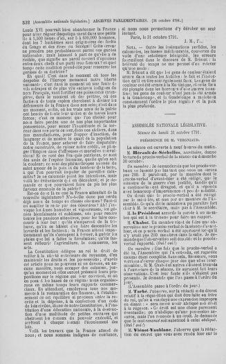 Tome 34 : Du 1er octobre au 10 novembre 1791 - page 532