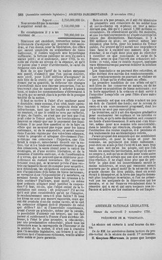 Tome 34 : Du 1er octobre au 10 novembre 1791 - page 588