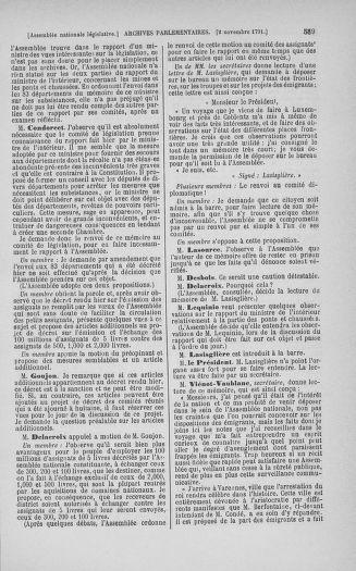 Tome 34 : Du 1er octobre au 10 novembre 1791 - page 589