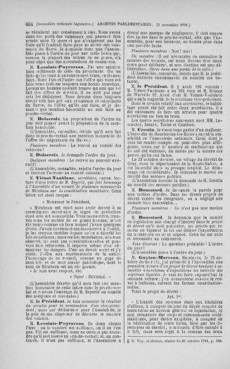 Tome 34 : Du 1er octobre au 10 novembre 1791 - page 604