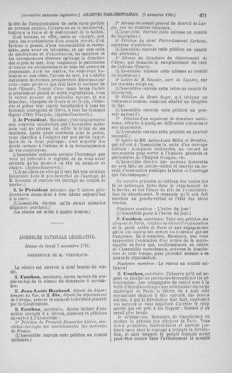 Tome 34 : Du 1er octobre au 10 novembre 1791 - page 671
