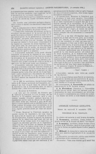 Tome 34 : Du 1er octobre au 10 novembre 1791 - page 688