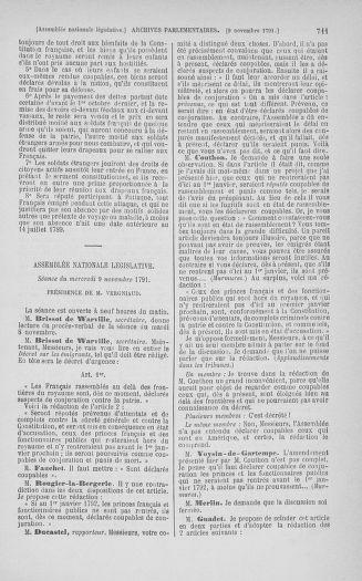 Tome 34 : Du 1er octobre au 10 novembre 1791 - page 711