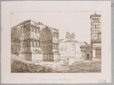 Velabro, il Giano, l'Arco degli Argentieri con parte della Chiesa di San Giorgio