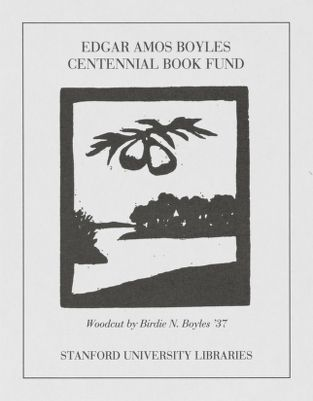 Edgar Amos Boyles Centennial Book Fund