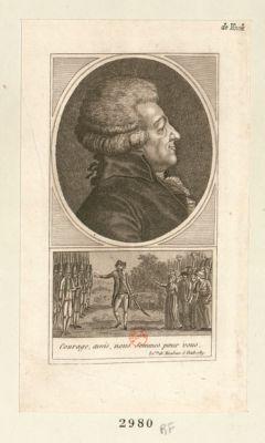 Courage, amis, nous sommes pour vous le c.te de Mirabeau 6 octob. 1789 : [estampe]