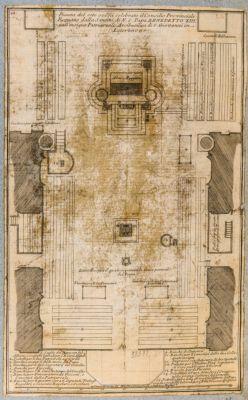 Chiesa di S. Giovanni in Laterano. Pianta del Concilio di Benedetto XIII (1725)