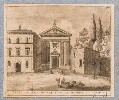 Chiesa di Santa Prisca, prospetto