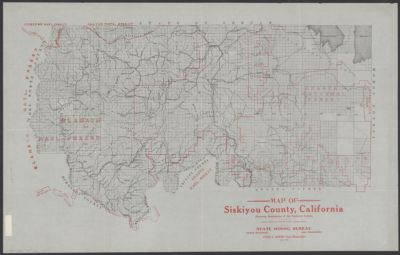Map Of Siskiyou County California Showing Boundaries Of The