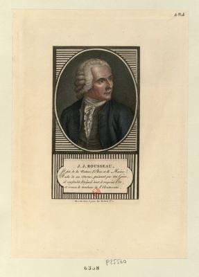 J.J. <em>Rousseau</em> il fut de la nature d'élève et le mentor, riche de ses vertus, puissant dans son génie.. . : [estampe]