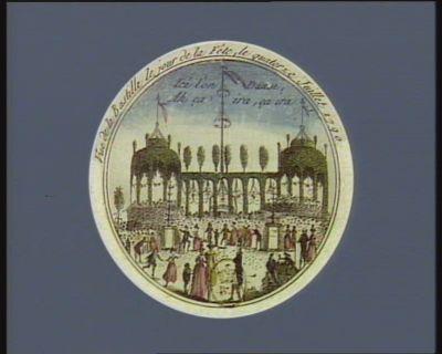 Vue de la Bastille le jour de la fête, le quatorze juillet 1790 ici l'on danse, Ah ça ira, ça ira : [estampe]