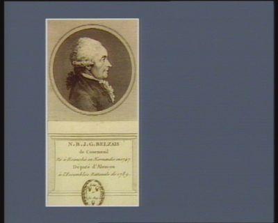 N.B.J.G. Belzais de Courmenil né à Ecouché en Normandie en 1747 député d'Alençon à l'Assemblée nationale de 1789 : [estampe]