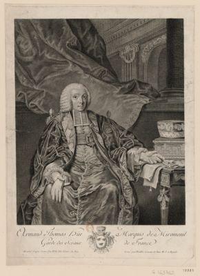Armand Thomas Hüe marquis de Miromenil garde des sceaux de France [estampe]
