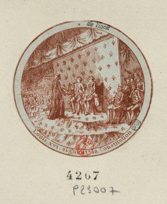 Louis XVI signant la Constitution [estampe]