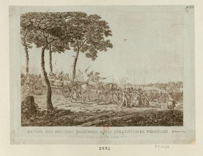 Retour des héroïnes parisiennes après l'expédition de Versailles du 5 oct. <em>1789</em> [estampe]