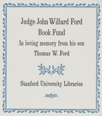 Judge John Willard Ford Book Fund