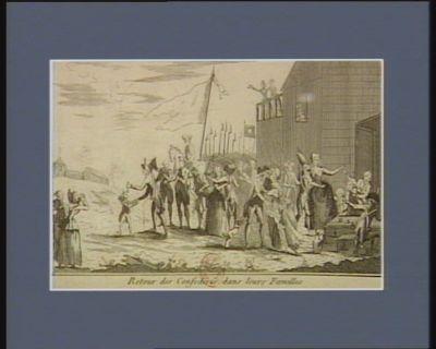 Retour des confédérés dans leurs familles [estampe]