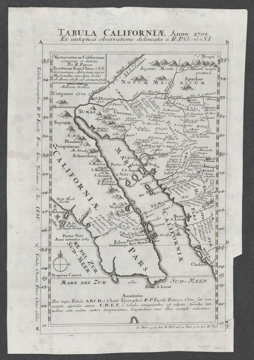 Tabula Californiae (1702).