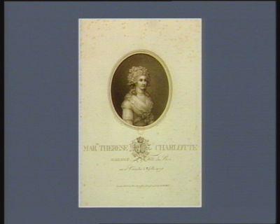 Marie Therese Charlotte de France, Madame, fille du Roi née à Vers. le 19 decembre 1778 [estampe]