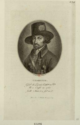 Charette Gén.al de l armée cath.que <em>et</em> r.ale né à Couffé en 1763, fusillé à Nantes le 9 ger.le an 4.eme : [estampe]