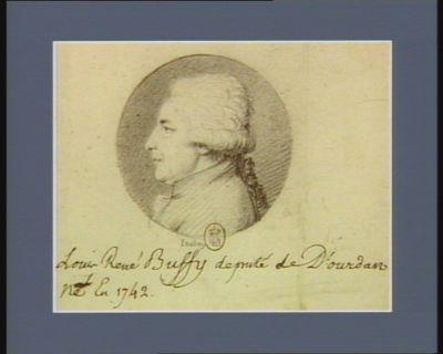 Louis René Buffy député de Dourdan né en 1742 : [dessin]
