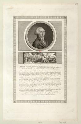 Jérome Pétion, député aux Etats généraux de <em>1789</em>, maire de Paris en 1792 [estampe]