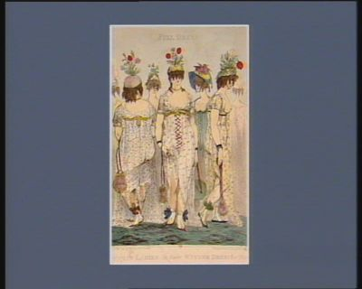 Parisian ladies in their winter dress for 1800 full dress : [estampe]