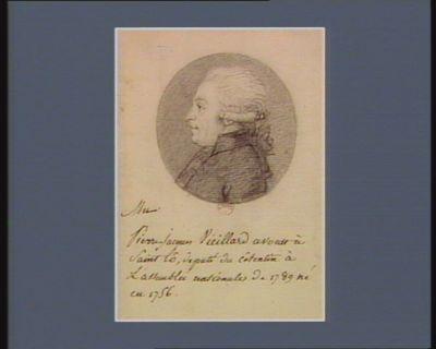 Pierre Jacques Vieillard avocat à Saint-Lô député du Cotentin... : [dessin]