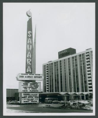 Sahara marquee, Turk Murphy Jazz Band advertised