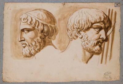 Colonna Traiana, bassorilevi e studi di teste