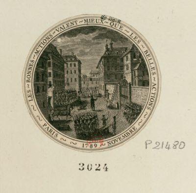 Les  Bonnes actions valent mieux que les belles actions Paris 1789 novembre [estampe]