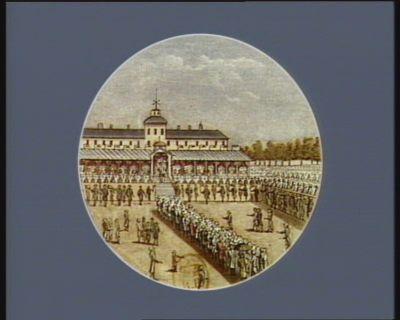 Arrivée <em>de</em> l'Assemblée nationale au <em>Champ</em> <em>de</em> <em>Mars</em> Paris, 14 juillet 1790 : [estampe]
