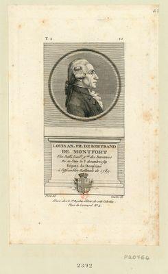 Louis An. Fr. de Bertrand de Montfort vice balli, lieut.t g.ral des baronnies né au Buix le 3 decembre 1739 député du Dauphiné à l'Assemblée nationale de 1789 : [estampe]