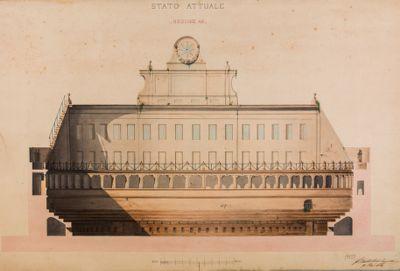 Stato attuale del monumento di Augusto, sezione AB