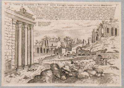 Tempio di Antonino e Faustina, parte del pronao verso ponente