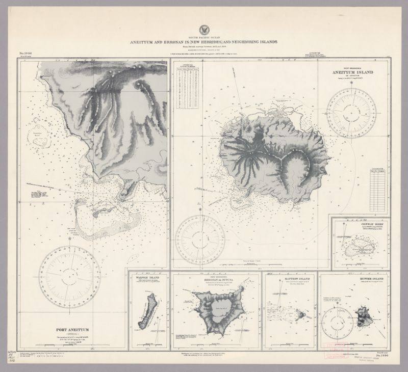 South Pacific Ocean. Aneityum and Erronan Is. (New Hebrides), and Neighboring Islands