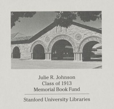 Julie R. Johnson, Class of 1913, Memorial Book Fund