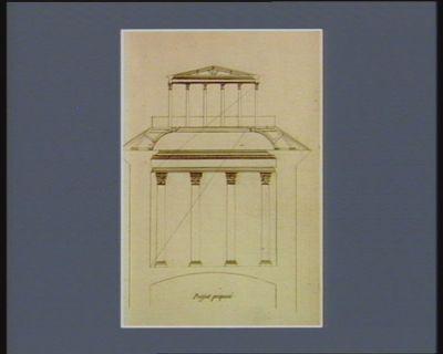 [Coupe d'un Conservatoire d'estampes et Ecole nationale de gravure] projet proposé : [estampe]